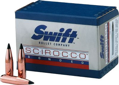 Sciroccos polymer Signature Black Tip initiates deadly expansion and is precisely shaped to reduce frontal air resistance and deliver a high ballistic coefficient. A progressively tapered pure copper jacket controls expansion on game through a wide range of velocities. Jacket and core are bonded together using proven Swift bonding technology. Engineered for optimal rotational stability. Thick boattail base reduces drag in flight, eases bullet seating when reloading and prevents bullet deformation in high-velocity magnum calibers. Per 100. A-Frames pure lead core is bonded to a progressively tapered, pure copper jacket. An A-Frame cross member controls rate of expansion, while retaining weight in all calibers over a wide range of velocities. The protected rear core retains momentum for superior penetration. A semi-spitzer nose profile blends flight performance with the ability to withstand recoil impact in a magazine to prevent tip deformation. Per 50. Color: Copper. - $54.99