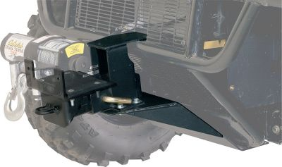 "Motorsports Made expressly for the UTV market, these two-piece Winch Mounts are designed with bolt-hole patterns that will fit Superwinch, Trail Tamer and Warn 1,500-4,000-pound winches. The Receiver Mount, with a standard 2"" receiver, attaches permanently to the vehicle. The Winch Mount secures to the Receiver Mount with a linchpin. - $249.99"