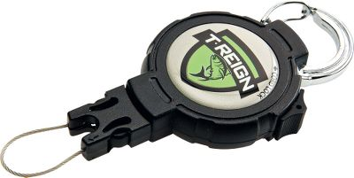 Fishing The T-Reign Retractable Gear Tether provides fast, at-your-fingertip access to your most trusted tools and devices, while keeping them safely attached and secure. Rugged, weather-resistant design performs under the most demanding conditions. Rugged 48-long Kevlar cord is strong and durable. High-quality, stainless steel spring provides 2 to 14 oz. of retraction force. Size Fasten Type Compatible Items (not included) Small Strap Scissors, Nippers, Fly Accessories Medium Strap Light Pliers, Scales, Forceps Medium Carabiner Light Pliers, Scales, Forceps - Carabiner Pliers, Hook-Out, Light Electronics Size: M. Color: Stainless steel. Gender: Unisex. Type: Miscellaneous Fishing Tools. - $12.99