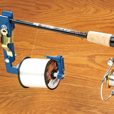 Fishing Respools spinning reels, baitcasting reels and closed-faced reels. Easily clamps to any rod and firmly holds your spool of line for convenient, anywhere respooling without line twist. - $12.88