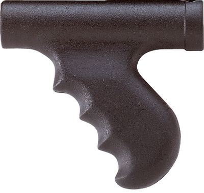 Entertainment Injection-molded of ABS polymer and ergonomically designed for a sure grip with the proper width, rearward angle and back swell. The shape, angle and finger notches promote painless shooting and positive control of the shotgun. Easy installation with no alterations required. 12-gauge only. Models: Remington 870, Mossberg 500/600. Type: Grips. - $31.99