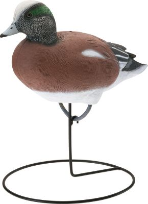 Hunting American wigeon set comes with one upright drake, one upright hen, one feeder drake and one feeder hen. Stake or round bases included. Per 4. Includes: Wigeon Feeder 16.25 long Upright 16 long Type: Widgeon Decoys. - $89.99
