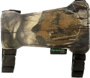 Hunting Keep your clothing out of the way of your release with this form-fitting, 7 flex-foam armguard. Two adjustable quick-release buckles make for easy on and off and a perfect fit. They have a silent-fleeced front. Color: Camo. Type: Armguards. - $11.99