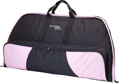 Hunting Designed to work with shorter, more compact ladies bows this bow case is padded with durable polyester fabric both inside and out. The black case is accented with pink, and features a full-length arrow pocket with a little extra room at the bottom for storage. Sturdy carry handle. Imported. Dimensions: 36L x 15W. Color: Black. Gender: Female. Age Group: Kids. Type: Bow Cases. - $23.88