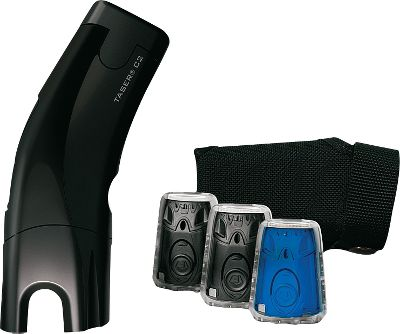 Drop assailants from up to 15-ft. away with the popular Taser C2, and get all the accessories you need for repeated activations, concealed carrying and honing your aim. This all-in-one kit includes the Taser C2, two live cartridges with 15-ft. leads, one training cartridge, one practice target and a holster. Developed with law enforcement to be simple and fool proof in stressful situations, the C2 features an ergonomic body with instinctive controls for split-second activation. An integrated LED flashlight and laser sight also deliver fast target acquisition. The C2 delivers a 30-second jolt that disables attackers when activated, giving you the chance to get away. As a backup, the C2 can also be activated by contact in close-quarters defense like a tradition stun gun. LPM battery pack holds a charge for more than 50 activations (included). Lightweight, low-profile design measures 5.5L x 1.25W x 2.10H. Manual and training disk included. Made in USA.Colors: Black, Pink. - $399.99