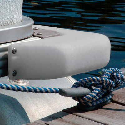 Motorsports Dock any pontoon with air-cushioned impact protection. Made of heavy duty, gray PVC. Fasteners included. Both models measure 3 x 12. Made in USA. Available: 90 Corner Fender Radius Corner Fender Size: 90 DEGREE. Color: Gray. - $34.99