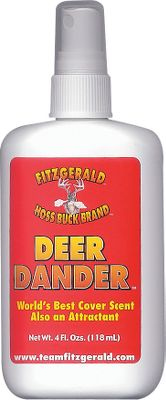 Hunting Totally unique, Deer Dander makes you smell like the deer you pursue. It effectively disguises your scent rather than trying to eliminate it. Spray it on your hands, clothing, tree stand, blind, and forget about the wind. Comes in a 4-oz. spray bottle. Type: Lures/Attractants. - $12.99