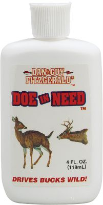 Hunting This attractant super-charges a buck's sex drive during the rut by simulating a doe in estrous. It is great on scent wicks and decoys alike. Comes in a 4-ounce bottle. - $14.99