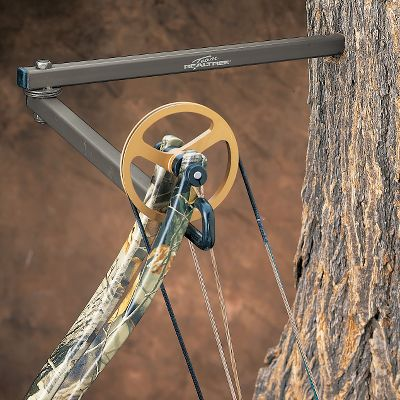 Hunting Keep your bow and all accessories organized and within easy reach. Chosen by Team Realtree as the premier bow and accessory holder, this is one item no bowhunter should be without. The hinged rods adjust to your desired height and angle, so movement remains minimal when you reach for your bow. With one fluid movement, you can have your arrow drawn and ready to release when that giant buck steps out unexpectedly. Large hook accommodates virtually any bow. Available in three lengths and a combo pack, including a three arm version sporting three sections of hinged rods for more flexibility in positioning your bow and accessories. Available: Standard (13-1/4), Long (23), Three Arm, 3-Pack Combo. Type: Bow Holders. - $9.99