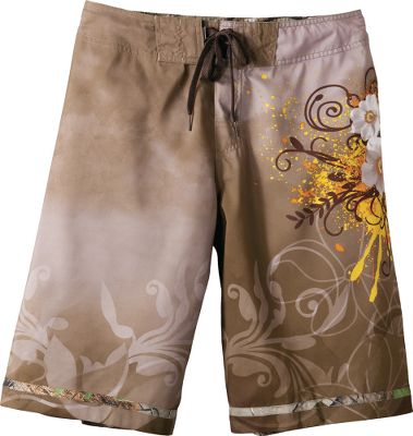 Surf Ride the waves or just chill by the beach in these comfortable boardshorts. They have a back cargo pocket with waterproof compartment. Hook-and-loop fly. Flat adjustable drawcord. Soft 100% micropeached polyester. Imported.Inseam: 22.Even waist sizes: 32-40. Color: Earth. - $14.99
