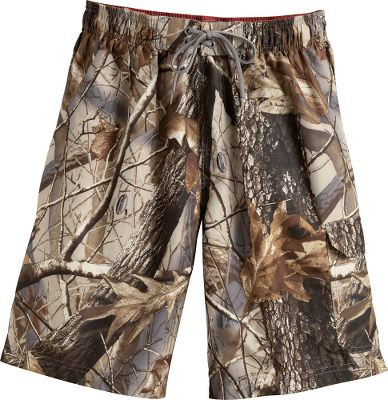 Surf Developed in collaboration with the outdoor experts at Team Realtree, these great-feeling shorts double as swimming trunks. Theyre made of durable and super-soft, peached 100% polyester that dries quickly. Flapped cargo pocket on the left leg. Drawstring waist. Machine washable. Imported.Inseam: 10-1/2. Sizes: S-2XL.Camo pattern: Realtree Hardwoods HD. - $29.99