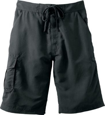 Surf Able to do double duty as casual summer shorts and swimming trunks, these great-feeling shorts offer what most guys miss in regular water shorts lots of pockets. There are two slash pockets, a cargo pocket on the right leg, a zippered welt pocket on the left leg and a pocket on the back left side. Developed in collaboration with the outdoor experts at Team Realtree, theyre made of durable and super-soft, peached 100% polyester that dries quickly. Drawstring waist. Mesh liner. Machine washable. Imported.Inseam: 12.Sizes: S-2XL.Colors: Black, Khaki, Navy. Type: Water Shorts. Size: Small. Color: Black. Size Small. Color Black. - $19.88