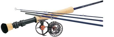 Flyfishing Pair a TiCr X Rod with a Cabelas WLx reel. Combos include Mastery GPX weight-forward fly line (a $69.95 value) and backing. *TF10904X and TF12904X are rod/reel only. No fly line or backing included. Lefty Krehs TiCr X Rods are lightweight and incredibly strong. They generate tight loops and high line speeds with nearly instant dampening, making them the perfect distance tools for advanced casters who prefer fast-action rods. TiCr X rods feature Flor-grade cork handles and aluminum reel seats with cushioned hoods, oversized titanium-oxide stripper guides and a beautiful dark-blue finish. The WLx series earns its elite position by exhibiting the same exacting machined tolerances, lightweight design and reliability Lamson has built a reputation on delivering. Clad in a two-toned, nonglare anodized finish, the 6061-T6 aircraft-grade aluminum is fully CNC machined and matched with stainless steel components to blend superior light weight with rugged strength. Solid machined spool further increases overall strength-to-weight ratio. Aggressive large-arbor ratios promote maximum line pickup speed and minimum line coil memory. The proven-reliable sealed drag consists of stacked, smooth-braking Rulon discs with a two-stage compression drag spring that accommodates a wide range of drag pressures. Ball-bearing drag knob with detents ensures positive, smooth drag selection. Large knurled drag knob for ease of adjustment in wet conditions. Easy tool-less conversion from left- to right-hand retrieve. 25-year limited warranty. Images depict the style of the rod handle and may not fully represent the actual length. Color: Stainless. Type: Fly Fishing Rod & Reel Combos. - $459.99