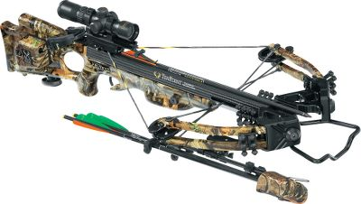 Hunting Combining cutting-edge carbon-fiber barrel technology with radically compact XLT assembly, the Carbon Elite Crossbow is TenPoints fastest and lightest crossbow in the XLT line. Noise-eliminating aluminum rivet nuts float the barrel inside the stock for reduced vibration. Double-laminated 11 IsoTaper Limbs are fitted with MRX cams and D-75 string and cables. It is 13-1/2 axle-to-axle when cocked with a 185-lb. draw weight that shoots arrows a blistering 334 fps. Riser comes with a detachable, coated-aluminum foot stirrup. Patented dry-fire-inhibitor (DFI). 3-1/2-lb. PowerTouch trigger. Riser, limb pockets, trigger box and MRX cams are black, and the barrel is carbon weave. Double dipped in Mossy Oak Break-Up Infinity camo.Speed: Up to 334 fps.Power stroke: 12-5/8.Draw weight: 185 lbs.Length: 38-1/8.Width: 17-1/2.Weight without accessories: 6 lbs. 14 oz.Camo pattern: Mossy Oak Break-Up InfinityTenPoint Carbon Elite XLT Package includes: crossbow, RangeMaster Pro scope with 7/8 rings, ACUdraw cocking mechanism, compact-limb soft case, BowJax silencer kit, six Carbon Pro Elite SuperBrite arrows with practice points, three-arrow quiver, ambidextrous side-mount quiver bracket, 7/8 fixed dovetail mount, GripGuard safety shield. Type: Crossbows. IBO Speed (fps): 326-350. - $999.88