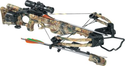 Hunting TenPoint has a complete line of crossbows. A lighter, Fusion Lite stock with a longer barrel and power stroke matched with Xtreme Limb Technology (XLT) results in a faster, stronger crossbow that handles like a dream, but hits like a heavyweight. Powered by 180-lb. double-laminated IsoTaper Limbs and MRX cams, the Turbo XLT delivers bolts up to a blistering 345 fps (with ProElite Bolts), while generating 98-ft.-lbs. of kinetic energy. The crossbow spans a mere 13-1/2 from axle-to-axle when cocked, making it ultracompact and maneuverable. Durable D-75 string. Patented dry-fire-inhibitor (DFI). 3-1/2-lb. PowerTouch trigger. Double dipped in Realtree APG camo. Riser, limb pockets, trigger box and MRX cams are black. Made in USA. Power stroke: 12.5. Draw weight: 180 lbs. Length: 38. Width: 17-1/2. Weight without accessories: 7 lbs. Camo pattern: Realtree APG. TenPoint Turbo XLT II Package includes: crossbow, 3X Pro-View 2 scope with 7/8 rings, ACUdraw cocking mechanism, three aluminum Tenpoint arrows with practice points, instant detach 3-arrow quiver, ambidextrous side-mount quiver bracket, 7/8 fixed dovetail mount, includes integral Glass Reinforced Nylon Foregrip Safety Wings. Color: Black. - $699.88