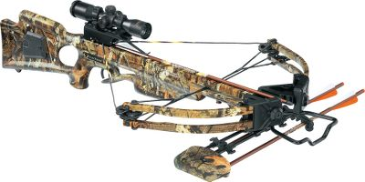 Hunting TenPoint has a complete line of crossbows. Boasting a narrower assembly, field-proven HL Limbs and XR wheels, TenPoints bread-and-butter Titan Xtreme crossbow sets the standard in power, speed and maneuverability. A fully machined riser, acutely angled limb pockets and 13 180-lb. HL Limbs produce a narrower, more powerful bow capable of shooting arrows up to 311 fps. Longer, lighter Fusion Lite stock weighs 5 oz. less than the original for improved handling. Fitted with a wax-infused D-75 string and cables with tunable yokes powered by all-new XR wheels. Patented dry-fire-inhibitor (DFI). 3-1/2-lb. PowerTouch trigger. Double dipped in Mossy Oak Break-Up Infinity camo. Riser, limb pockets, trigger box and XR cams are black. Made in USA. Power stroke: 12.6. Draw weight: 180 lbs. Length: 38. Width: 21-1/2. Weight without accessories: 7 lbs. 4 oz. Camo pattern: Mossy Oak Break-Up Infinity. TenPoint Titan Xtreme Package includes: crossbow, 3X Pro-View 2 scope with 7/8 rings, three aluminum 2219 XX75 20 SuperBrite arrows with practice points, four-point quiver, 7/8 fixed dovetail mount, GripGuard safety shield. Color: Black. - $449.88