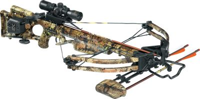 Hunting TenPoint has a complete line of crossbows. Boasting a narrower assembly, field-proven HL Limbs and XR wheels, TenPoints bread-and-butter Titan Xtreme crossbow sets the standard in power, speed and maneuverability. A fully machined riser, acutely angled limb pockets and 13 180-lb. HL Limbs produce a narrower, more powerful bow capable of shooting arrows up to 333 fps. Longer, lighter Fusion Lite stock weighs 5 oz. less than the original for improved handling. Fitted with a wax-infused D-75 string and cables with tunable yokes powered by XR wheels. Patented dry-fire-inhibitor (DFI). 3-1/2-lb. PowerTouch trigger. Double dipped in Mossy Oak Break-Up Infinity camo. Riser, limb pockets, trigger box and XR cams are black. Made in USA. Power stroke: 12.6. Draw weight: 180 lbs. Length: 38. Width: 21-1/2. Weight without accessories: 7 lbs. 4 oz. Camo pattern: Mossy Oak Break-Up Infinity. TenPoint Titan Xtreme ACUdraw Package includes: crossbow, 3X Pro-View 2 scope with 7/8 rings, ACUdraw cocking mechanism, three aluminum 2219 XX75 20 SuperBrite arrows with practice points, four-point quiver, ambidextrous side-mount quiver bracket, 7/8 fixed dovetail mount, GripGuard safety shield. Color: Black. - $799.99