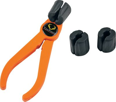 Hunting TenPoint has a complete line of crossbows. Universal multiuse pliers easily pull arrows or bolts from high-density targets. Three interchangeable grippers made from Santoprene provide superior grip strength and bond to pliers with adhesive patches (not-included). Thermoplastic handles offer nonslip grip and are notched for use as a nock tool. Color: Orange. Type: Arrow Pullers. - $20.99