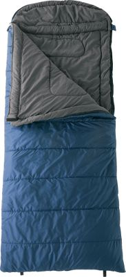 Camp and Hike A generously sized hooded sleeping bag that will keep you comfortably warm in temperatures down to 0F. Shell is sturdy polyester ripstop, and the lining is pleasingly soft brushed polyester. SuperLoft four-channel hollow-fiber insulation retains body heat for optimal warmth. Drawstring-equipped hood affords additional warmth. Other features include a full-length draft tube, interior stash pocket and a compression stuff sack. Imported.Dimensions: 36W x 90L.Fill weight: 4 lbs.Carry weight: 6.5 lbs.Available: Left- and Right-Hand. Gender: Unisex. Zipper Side: Left Side. Type: Rectangle Sleeping Bags. Temp Rating: 0&degF to 19&degF. Temperature Rating: 0&degF. Teton Left Sports Sl. Style Left. - $59.88