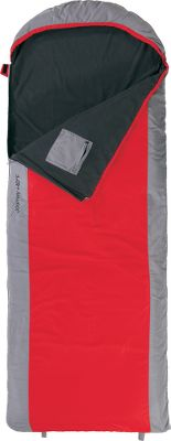 Camp and Hike This ultralight sleeping bag is perfect for multiseason camping and accommodates taller people with its rectangular shape. 75-denier, 2mm diamond ripstop fabric is durable, and 150gsm PolarLite fleece keeps you warm without extra bulk. The mummy-style hood keeps your head or pillow off the ground, and a drawstring hood and zipper baffle keep drafts out. The fully taped, acetal-resin zippers prevent snagging and open at both your feet and head for versatile ventilation. Store your valuables inside the 7.25 zipper pocket while youre asleep. Completely unzip it to fold it out to form a cozy fleece blanket. Stuff sack included. Imported. - $59.88