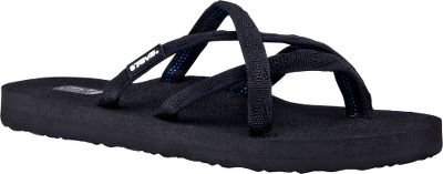 Entertainment Some of the most-popular members of the Teva Mush line, Olowahus Thongs have an elegant strapping system bound to supportive casual-sandal platforms. 7mm EVA footbeds mold to the contours of your feet for exceptional comfort. Imported. Womens whole sizes: 6-11 medium width. Color: Mixed Black On Black. Size: 10. Color: Black. Gender: Female. Age Group: Adult. Type: Sandals. - $24.99