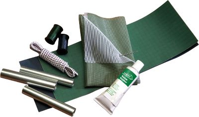 Camp and Hike A complete kit for in-field nylon-tent repair. Contains: two adhesive-backed ripstop-nylon patches; two mesh screen patches; two spools of nylon thread; one No. 4 needle; three ferrules; 45 of shock cord; 1/2 oz. seam sealer; and a reusable, watertight storage bag. Gender: Male. Age Group: Adult. - $5.99