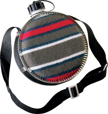 Camp and Hike Canteens boast blanket-covered exteriors and polyurethane-lined interiors to keep water refreshingly cool in even the warmest temperatures. Insulated screw-on cap with tether. Comfortable, adjustable web shoulder strap. Imported. Available: 2 qt. 4 qt. Size: 2 QUART. - $9.99