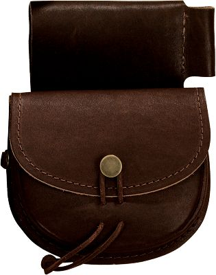 The Double Belt Possibles Bag is for the modern hunter wanting to carry preloaded cartridges on a belt. Crafted from top-grain 5-oz. cowhide. Dimensions: 5 W x 5 H. - $49.99