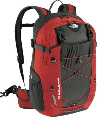 Camp and Hike Versatile, ultralightweight backpack for fast-packing adventures. this pack is meant for the serious backpacker who demands a custom fit. It also has a deluxe, vertical, mesh channel on the back panel to provide cooling comfort. Cushioned shoulder harnesses are sleek and anatomical. A load-spreading hip belt is lined with soft tricot. Huge, zippered side entry to main compartment. Zippered sleeping-bag compartment access. ImportedCapacity: 1,830 cu. in.Dimensions: 21H x 13W x 8D.Torso length: 15-18.Empty weight: 2 lbs. 3 oz.Color: Deep Water Blue, Caldera Red. - $79.00
