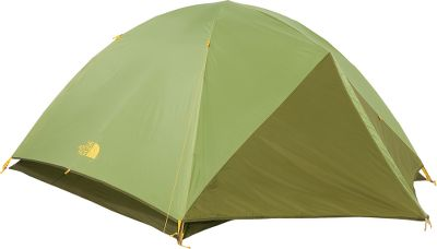 Camp and Hike This tent features a tear-resistant, 75-denier polyester fly with a 1,500mm water-resistant finish for all-weather protection. Fully taped 70-denier nylon floor with 5,000mm waterproof-rated coating locks out moisture. Color-coded tent-pitching system with easy-to-use clips and poles for fast assembly. Gear loops. Steel stakes. Overhead storage pockets, a double door with two large vestibules and an innovative built-in gear loft. Imported.Sleeping capacity: 3. Center height: 45.Floor size: 89 x 70.Weight: 5 lbs. 13 oz.Pack size: 8 x 24. - $136.88