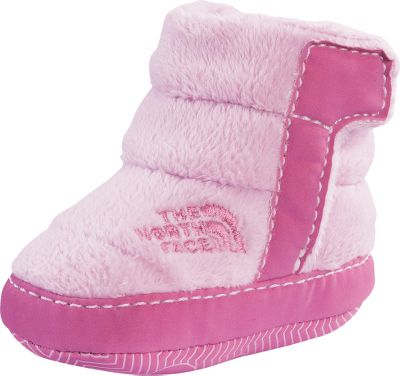 Ease your babys feet into extra-warming, cuter-than-cute wintertime booties. Soft and durable high-loft fleece uppers and linings surround and blanket feet. 100-gram Heatseeker Insulation preserves warmth. Hook-and-loop instep tabs create a snug fit. Flexible synthetic bottoms offer a comfortable amount of wiggle room. Imported.Kids sizes: 1-4.Colors: Drummer Blue, Ruffle Pink. Type: Booties. Size: 3. Shoe Width: B. Color: Ruffle Pink. Size 3. Color Ruffle Pink. - $14.99