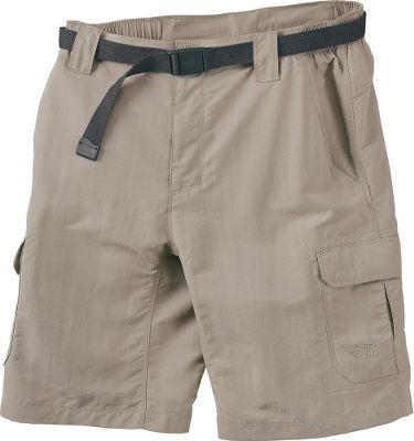 Camp and Hike More than midweight shorts, theyre essential hiking gear. Built of quick-drying, abrasion-resistant nylon faille that boasts a durable water-repellent finish. This bluesign-approved fabric even delivers a sun-protective UPF rating of 30. The partial-elastic waist and gusseted crotch enhance mobility and add extra comfort. Two side cargo pockets and one zip back pocket for trail necessities. Includes a durable belt. Imported.Inseam: 10.Sizes: S-3XL.Colors: New Taupe Green, Asphalt Grey, Weimaraner Brown, Dune Beige, Moab Khaki. Waist: Medium. Type: Shorts. Size: Medium. Inseam: DUNE BEIGE. Size Medium. Color Dune Beige. - $19.99