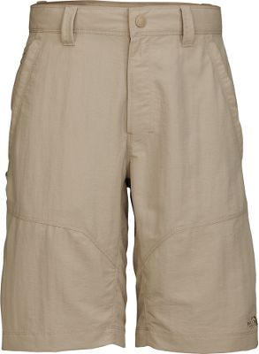 The North Face upped the style, sun protection and comfort of the second-generation Paramount utility shorts. They remain a solid choice for all your favorite outdoor activities. The midweight abrasion-resistant nylon faille fabric has a durable water-repellent finish to shed spills and stains and dry quickly. A UPF rating of 50 delivers sun protection. Store your trail essentials in the secure back pockets, side utility pocket and zippered front pockets. Imported.Inseam: 11.Even waist sizes: 30-40.Colors: Dune Beige, Asphalt Grey, New Taupe Green, Weimeraner Brown. Waist: 32. Size: 32. Inseam: NEW TAUPE GREEN. Size 32. Color New Taupe Green. - $33.88