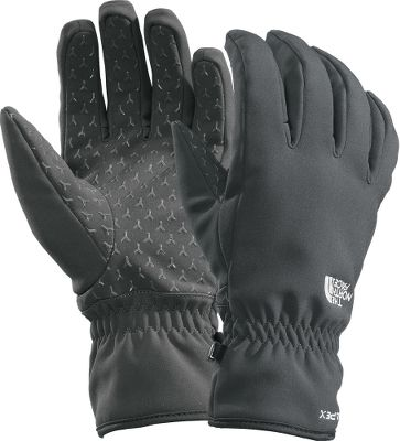 Reach for these gloves when weather is an issue. They have a water-resistant, breathable Apex Climate Block soft-shell fabric and brushed-tricot linings that provide light insulation. Synthetic gripper palms for dependable grip and added dexterity. Imported.Sizes: S-XL.Colors: Black, Grey. - $19.88
