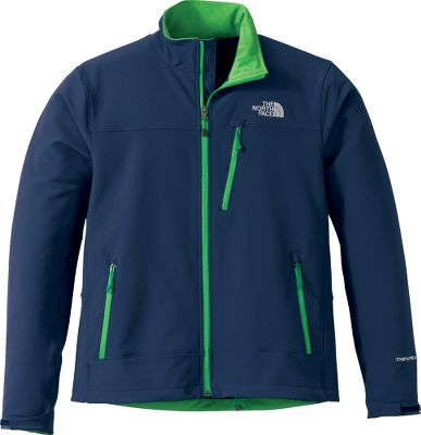 The North Face Mens Apex Pneumatic Jacket is a snappy-looking soft-shell jacket with a bit of stretch thats built for active endeavors. TNF Apex Universal fabric is breathable, wind- and water-resistant 91/9 polyester/elastane with four-way stretch. Brushed collar lining eliminates chafing. Full-zip front. Vertical zippered chest pocket and two zippered side pockets. Self-fabric adjustable Velcro cuff tabs. Cinch-cord hem. Imported. Sizes: M-2XL. Colors: TNF Black, Nautical Blue, Biking Red, Zinnia Orange, High Rise Grey, Drummer Blue, Rage Red/Vanadis Grey, Snorkel Blue/Vanadis Grey. Size: XL. Color: High Rise Grey. Gender: Male. Age Group: Adult. Material: Polyester. - $51.88