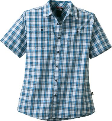 Youll appreciate the breathable, cooling comfort of this soft casual shirt made for hot, sunny days. Its a lightweight blend of 60/40 cotton/polyester fabric with a UPF of 15 to provide a measure of protection from the sun. Two chest pockets with button closures. Topstitch detailing. Buttons are made of eco-friendly recycled rubber. Imported.Sizes: M-2XL.Colors: Athens Blue, Weimaraner Brown, Triumph Green. - $44.88