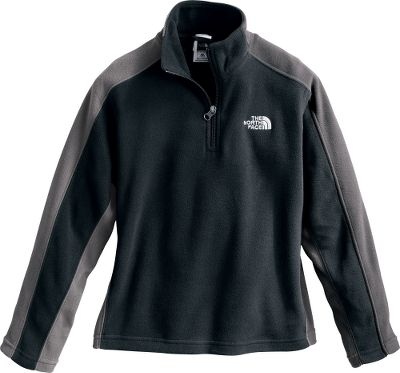 An all-season performer thats perfect for school, the gym and outdoor sports. Polartec Classic 100% polyester microfleece offers lightweight warmth, pill resistance and long-lasting durability. 1/4-zip neck for easy layering and on-demand ventilation. Self-fabric blocking at side panels and underarms. Embroidered Half Dome logo at chest. Imported. Sizes: XXS-XL.Colors: Leopard Yellow, TNF Black. - $29.88