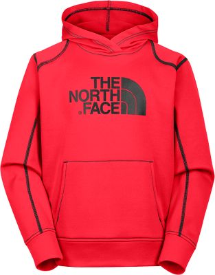 The iconic The North Face logo will make this versatile Boys Surgent Pullover Hoodiehis first choice for everyday warmth and cool-weather outdoor comfort. Its made of 100% polyester jersey-faced fleece with a UPF rating of 50 for sun protection. Kangaroo handwarmer pocket. Screen-printed Half Dome logo at chest. Contrast-color overlock stitching at seams and sleeves. Self-fabric cuffs and hem. Imported.Sizes: XS-XL.Colors: TNF Black, Nautical Blue, TNF Blue/Sulphur/Green. Type: Hoodies. Size: Large. Color: Tnf Blck/sulphur/grn. Size Large. Color Tnf Blck/Sulphur/Grn. - $39.88