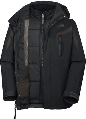 He ll have the option of the waterproof, breathable, seam-sealed 100% polyester HyVent 2L jacket; the ultrawarm 150-gram Heatseeker Aero polyester fleece liner; or both. They re zip-in and snap-in compatible. 100% polyester mesh lining for moisture control. Zippered handwarmer pockets and an infused Napoleon pocket. Includes a tuck-away powder skirt, adjustable drawcord hem and adjustable cuffs with Velcro closures, removable hood, internal media pocket, key-clip, glove clip, goggle cloth and ID label. Imported. Sizes: XS-XL. Colors: Drummer Blue, Graphite Grey, TNF Red. - $119.88