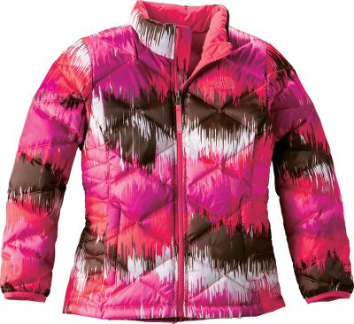 A lightweight, warm jacket from The North Face thats ready for winter fun in eye-catching colors. The durable 100% nylon shell has a durable water-repellent finish and the lining is 100% polyester taffeta that glides effortlessly over layers. 550-fill-power down retains body heat naturally and is one of the most efficient insulators you can wear. Zippered handwarmer pockets. Brushed collar lining. Imported. Sizes: XS-XL. Color: Mint Blue. Size: XS. Color: Mint Blue. Gender: Female. Age Group: Kids. Material: Polyester. - $71.88