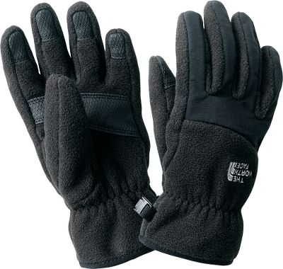 Traditional gloves boast 5 Dimensional Fit for youth-specific comfort and Nylon Taslan over the knuckles and fingers for exceptional dexterity. Made of soft TKA 300 fleece with heat-trapping elastic wrists to seal out cold. Synthetic gripper palms for added grip. Imported. Sizes: S-L.Colors: Deepwater Blue, TNF Red, TNF Black. - $14.88