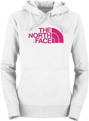 The North Faces super-soft casual Womens Half Dome Hoodie is made for active women. Easy-care 80/20 cotton/polyester fleece sports a durable water-repellent finish. Kangaroo hand pocket. Double-layered hood with drawstring closure. Screen-printed logo. Imported. Center back length: 25.25. Sizes: XS-2XL. Colors:Cerise Pink, Heather Grey/Pink, TNF Black Camo, Magic Magenta/High Rise Grey, Surreal Green, Fortuna Blue/Surreal Green, Charcoal Grey Heather. Size: XS. Color: Fortuna Blue/Srrl Gn. Gender: Female. Age Group: Adult. Pattern: Camo. Material: Polyester. - $24.88