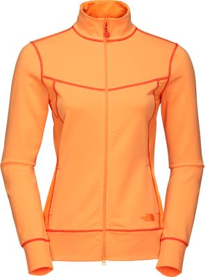 A lightweight, full-zip jacket with body-mapped mesh ventilation and VaporWick moisture management. 90/10 nylon/elastane drop-needle mesh ShapeShifter construction offers a form-flattering, supportive fit. Front two-way zipper. Imported. Sizes: S-XL. Colors: TNF White, Impact Orange, Magic Magenta, Synergy Blue. - $39.88