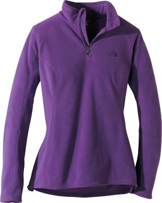 The Womens TKA Glacier Microvelour 1/4-Zip Pullover, The North Facess top-selling fleece pullover, is upgraded with a longer, more feminine silhouette and extra-warm Polartec Classic 100 fleece. Polartec delivers extra-efficient warmth and breathability at a significantly lighter weight than most other fleeces. 100% polyester. Machine washable. Imported. Center back length: 26. Sizes: XS-2XL. Colors: TNF Black, Graphite Grey Heather, TNF White/High Rise Grey, Marker Blue, North Face Black, Azalea Pink, Fanfare Green, Parlour Purple Heather, Rave Green, Rocket Red, Greystone Blue/Dapple Grey, Kokomo Green, Garnet Purple Heather, Luminous Pink, TNF Black PR. Size: Large. Color: North Face Black. Gender: Female. Age Group: Adult. Material: Polyester. Type: Pullovers. - $43.88