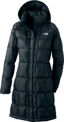 "Backcountry-proven warmth with sleek, ready-for-Aspen style. Ultrawarm, 600-fill-power down insulation traps body heat for fireside comfort in sub-freezing conditions. Its silky-smooth, knee-length shell combines 30-denier nylon and 50-denier polyester for water- and wind-resistant durability. A durable water-repellent finish sheds light snow, resists stains and beads moisture on contact. Two-way front zipper with snap-close storm flap. Adjustable, down-insulated snap-off hood. On-seam handwarmer pockets. Brushed chin guard. Media pocket. Imported.Center back length: 38"". Sizes: S-2XL. Colors: Black, Moonlight Ivory, Squid Red. - $199.88"