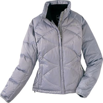 Slimming crisscross stitching gives this warm, comfortable jacket an updated look. Satin nylon shell with a durable water-repellent finish resists moisture. 550-fill-power goose down. Internal security pocket. Two hand pockets. Hem cinch cord. Imported.Center back length: 24.5.Sizes: S-XL.Colors: TNF Black, TNF White, Weimaraner Brown/Vaporous Grey, TurquoiseBlue, Montague Blue. Type: Jackets. Size: Large. Color: Wmrnr Brwn/vprs Gry. Size Large. Color Wmrnr Brwn/Vprs Gry. - $144.88