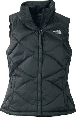 Slimming crisscross stitching gives this warm, comfortable vest an updated look. Satin nylon shell with a durable water-repellent finish resists moisture. 550-fill-power goose down. Great for layering. Two hand pockets. Imported.Center back length for size Medium: 24-1/2.Sizes: S-XL.Colors: Vibrant Blue, Premiere Purple, Weimaraner Brown, TNF Black, TNF White/Bolt Blue. - $69.88