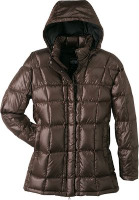 With snow hanging heavy in the air and the Transit Jacket comfortably keeping you warm, you'll enjoy being outside. This robust and stylish jacket is made of durable polyester ripstop and is insulated with warmth-inducing 600-fill goose down. The insulated and adjustable hood can be removed during pleasant winter days. A two-way center front zipper with a snap-down closure locks out blustering winds. The chin-guard lining has been brushed to the peak of softness. Internal media pocket. Imported. Sizes: S-XL. Colors: TNF Black, Brunette Brown, Squid Red. - $249.00