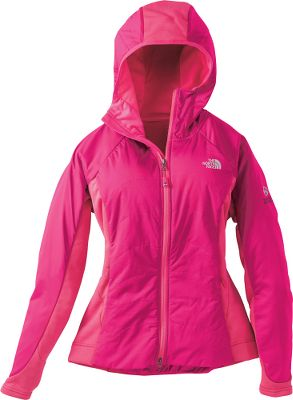Part of The North Face Summit Series , so you know this lightweight, performance-fitting hoodie is built to keep you warm and encourage movement in a wide range of conditions. The ultraprotective wind shell, made of 100% nylon ripstop with a water-resistant polyurethane kiss coat and insulated with 40-gram PrimaLoft One, features body-mapped, Polartec Power Stretch panels on the sides, hood and hem for optimal movement, comfort and breathability. Attached, bound hood. Reverse-coil zips. Two handwarmer pockets. Fabric's wind-resistance and permeability rated at 2 CFM. Imported. Sizes: S-XL. Colors: TNF Black, Kokomo Green, Fusion Pink. - $179.00