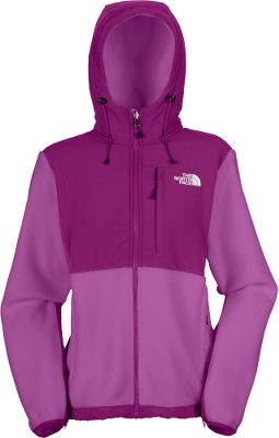 Made of durable, soft, recycled Polartec 300 fleece, The North Face Womens Denali Hoodie has abrasion-resistant panels at the shoulders, torso, elbows and hood for added durability in these high-stress areas. Also, the fabric is bluesign-approved, a standard for environmentally friendly production methods. Napoleon chest pocket and two hand pockets. Standard fit. Imported. Sizes: S-2XL. Color:Brilliant/Prussian. Size: Small. Color: Brllliant/Prussian. Gender: Female. Age Group: Adult. Material: Fleece. - $49.99
